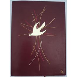 CLASSEUR LITURGIQUE Colombe sur Croix dorée de Liseuses