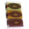 Lot de 3 savons : Fruits des bois - Miel - Chèvrefeuille de Douche