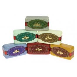 Lot de 6 savons : Lavandin - Argile verte - Miel - Fruits des bois - Chèvrefeuille - Verveine