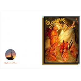 image religieuse- produit du monastère image de crèche de Noël pour vœux de fin d'année Artisanat monastique