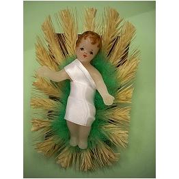 Enfant Jésus en cire 8cm