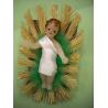 crèche cadeau religieux Enfant-Jésus en cire 8 cms travail artistique Artisanat monastique de Statues & Statuettes