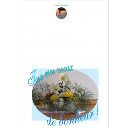 Carte de vœux de mariage de Anniversaire, fêtes, mariage...