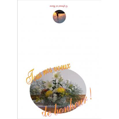 Carte de vœux de bonheur de Anniversaire, fêtes, mariage...