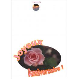 Carte de vœux anniversaire