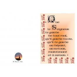 Carte de voeux bénédiction garde ta vie départ et retour pour tous ceux que l'on aime Artisanat monastique
