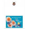 Carte de voeux nouvel an de paix et de joie en composition florale pour tous Artisanat monastique de Cartes de Bonne Année