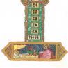 Bougie d'Avent décorée avec une Nativité de Crèches