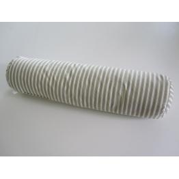 Traversin naturel plume rayé gris 90 cm