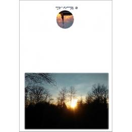 Carte nature un clin d'œil sur la beauté qui nous entoure avec un cocuher de soleil Artisanat monastique