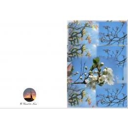 Carte amitié création du carmel en composition floral artistique et beauté de la nature Artisanat monastique