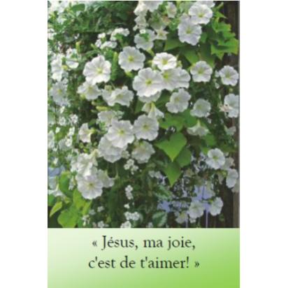 Marque page ma joie aimer jesus pour le souvenir d'une rencontre d'un ami Artisanat monastique de Marque pages & Signets