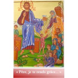 Marque page père je te rends grace création artistique par photographie Artisanat monastique