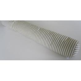 Traversin naturel plume rayé gris 160 cm