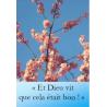Marque page et dieu vit que cela était bon photographie artistique florale Artisanat monastique de Marque pages & Signets