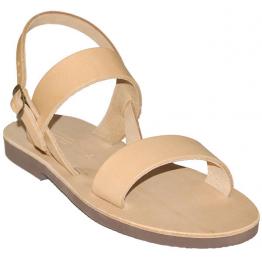 Sandales modèle Benoît - cuir naturel