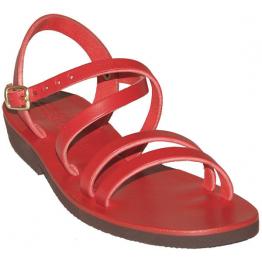 Sandales modèle Hildegarde - rouge