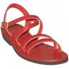 Sandales modèle Hildegarde - rouge de Sandales Femmes