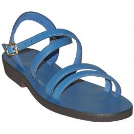 Sandales modèle Hildegarde - bleu