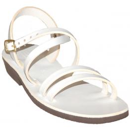 Sandales modèle Hildegarde - blanc de Sandales Femmes
