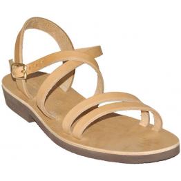 Sandales modèle Hildegarde - cuir naturel