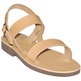 Sandales modèle Scholastique - cuir naturel